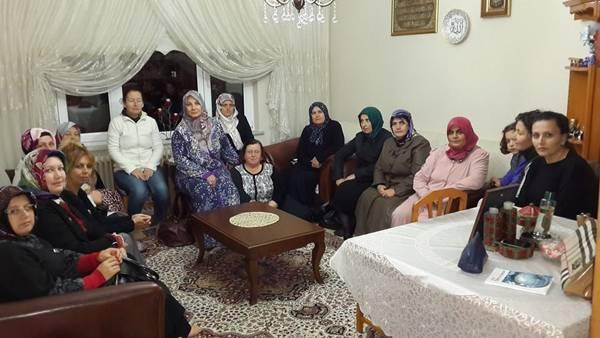 MHP'Lİ BAYANLARDAN TAZİYE ZİYARETİ