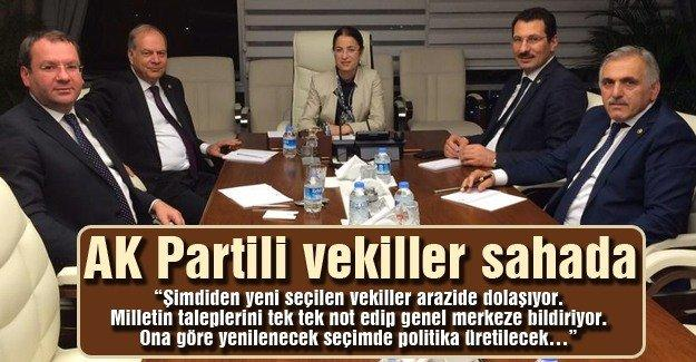 AK Partili vekiller sahada