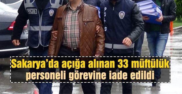 33 müftülük personeli görevlerine iade edildi