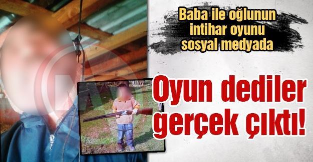 Baba ile oğlunun intihar oyunu sosyal medyada