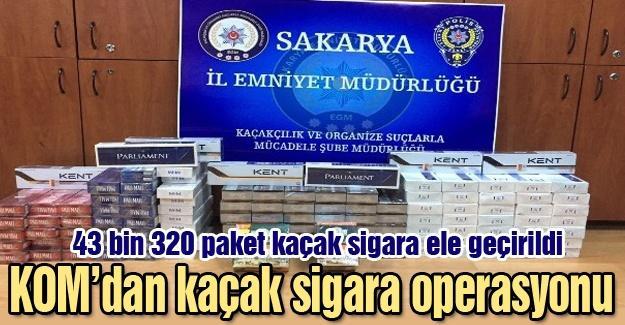 43 bin 320 paket kaçak sigara ele geçirildi