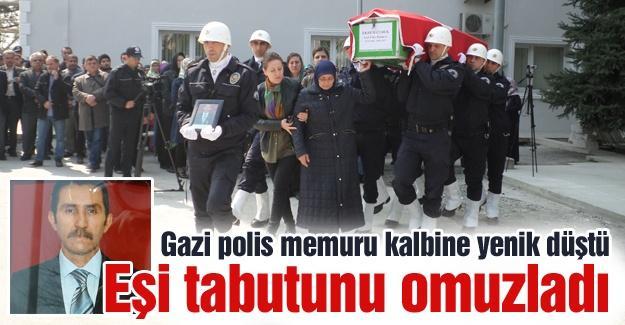 Gazi polis memuru kalbine yenik düştü
