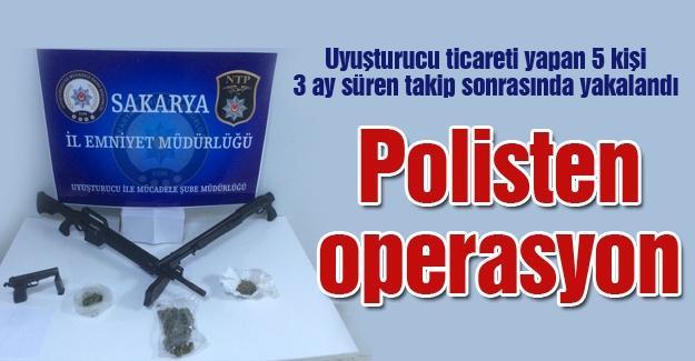 Uyuşturucu ticareti yapan 5 kişi 3 ay süren takip sonrasında yakalandı