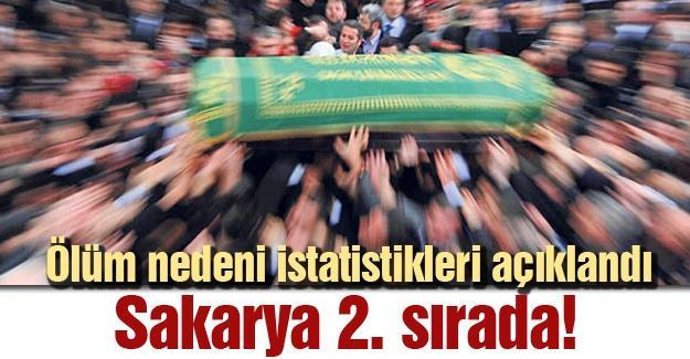 Ölüm nedeni istatistikleri açıklandı! Sakarya 2. sırada