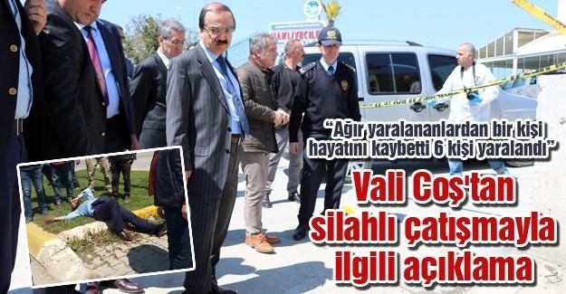 Vali Coş'tan silahlı çatışmayla ilgili açıklama