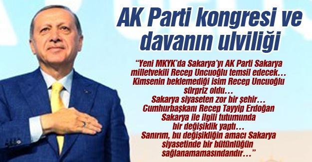 AK Parti kongresi ve davanın ulviliği