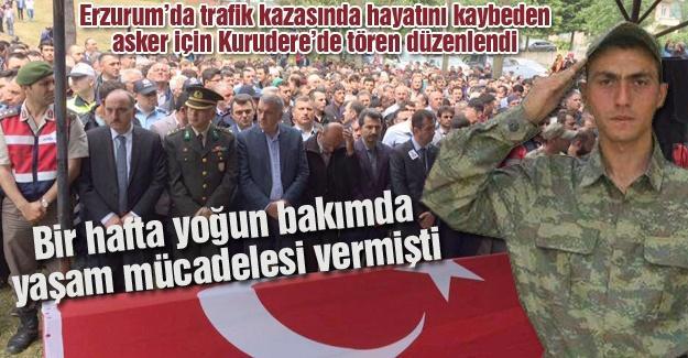 Kazada ölen asker Karasu'da toprağa verildi