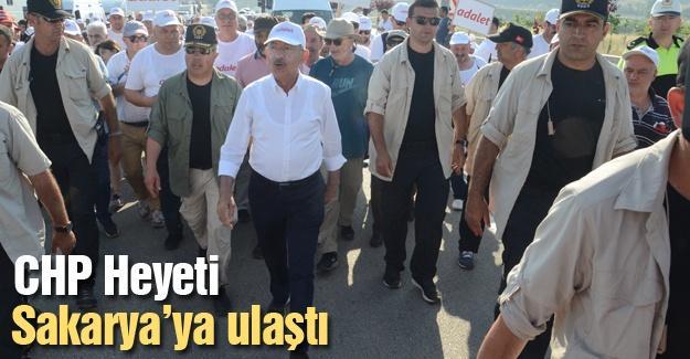 CHP Heyeti  Sakarya'ya ulaştı