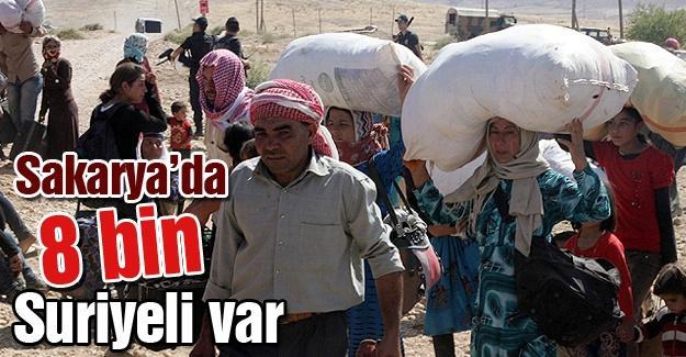 Sakarya'da 8 bin Suriyeli var