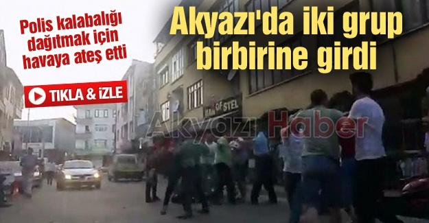 Polis kalabalığı dağıtmak için havaya ateş etti