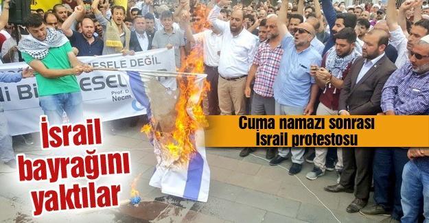 Cuma namazı sonrası İsrail protestosu
