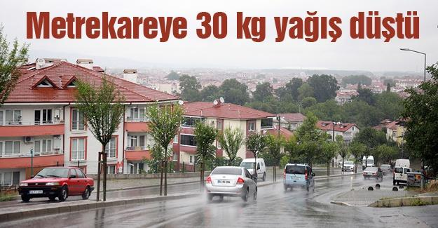 Metrekareye 30 kilogram yağış düştü