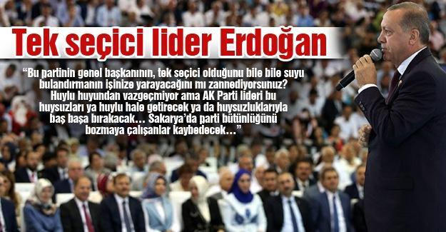 Tek seçici lider Erdoğan
