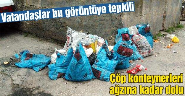 Vatandaşların çöp tepkisi