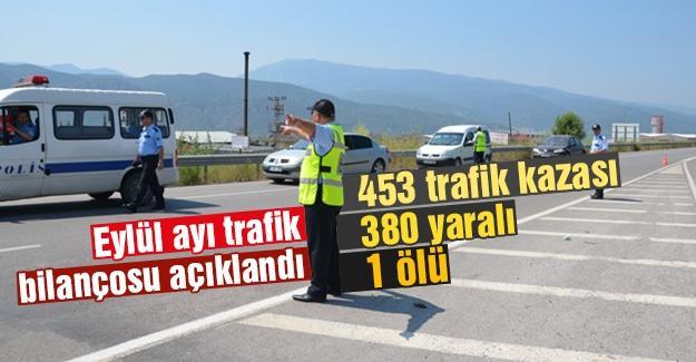 Eylül ayı trafik bilançosu açıklandı