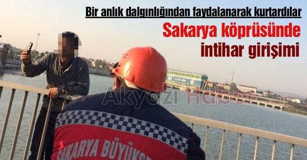 Sakarya köprüsünde intihar girişim
