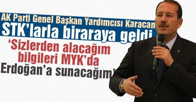 Karacan STK'larla biraraya geldi
