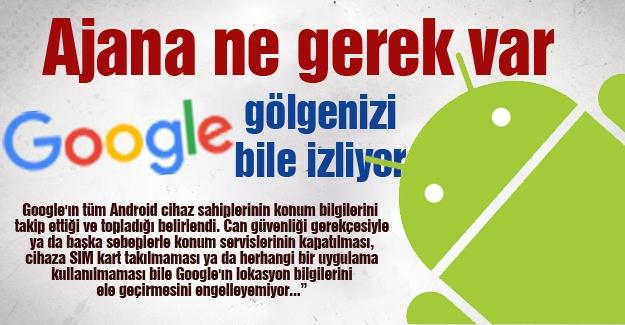 Ajana ne gerek var Google gölgenizi bile izliyor