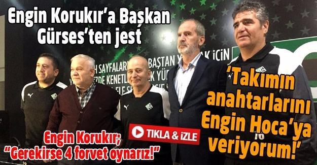Engin Korukır'a Başkan Gürses'ten jest
