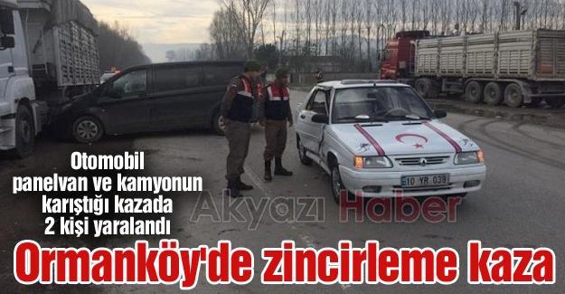 Ormanköy'de zincirleme kaza