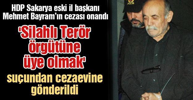HDP Sakarya eski il başkanı Mehmet Bayram'ın cezası onandı