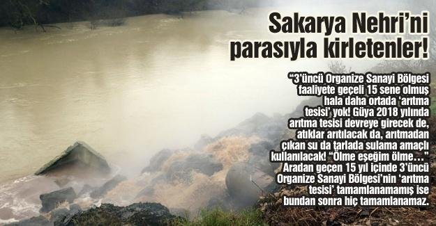 Sakarya Nehri'ni parasıyla kirletenler!…