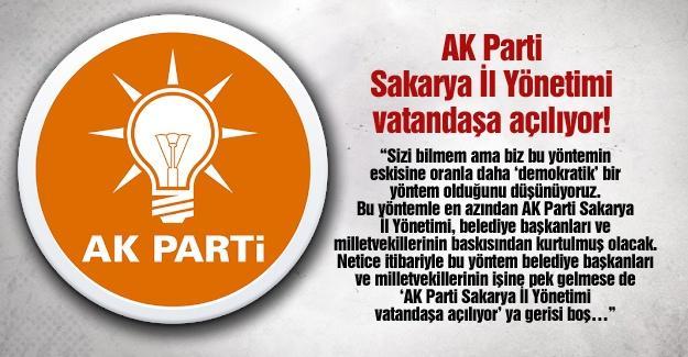 AK Parti Sakarya İl Yönetimi vatandaşa açılıyor!…