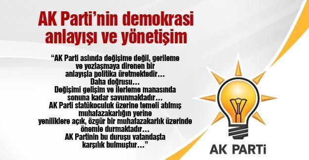 AK Partinin demokrasi anlayışı ve yönetişim