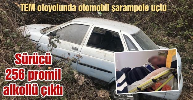 Kaza yapan sürücü 256 promil alkollü çıktı
