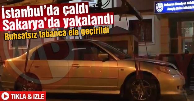 İstanbul'da çaldı Sakarya'da yakalandı
