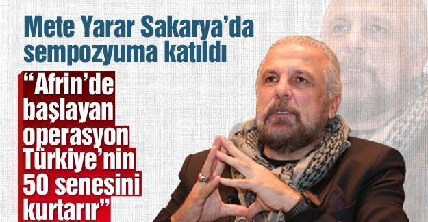 Mete Yarar Sakarya'da sempozyuma katıldı