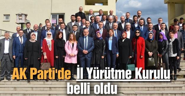 AK Parti'de İl Yürütme Kurulu belli oldu
