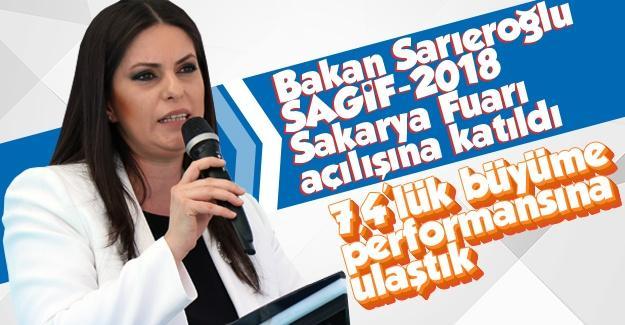 Bakan Sarıeroğlu SAGİF açılışına katıldı