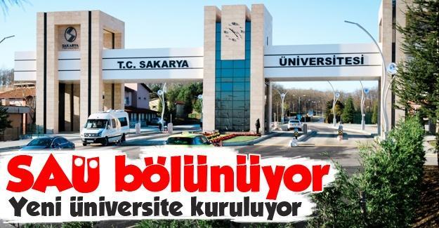 Sakarya Üniversitesi bölünüyor