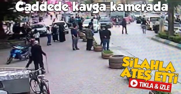 Caddede kavga kamerada