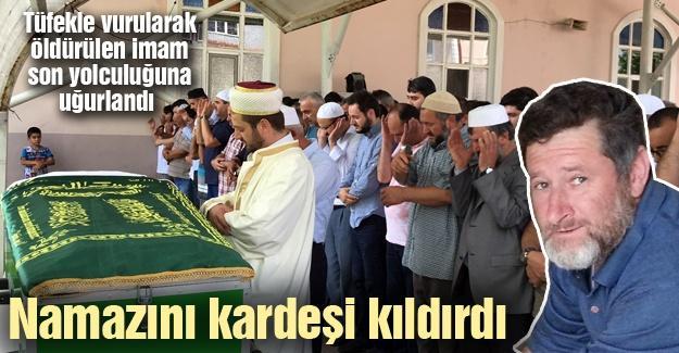 Öldürülen imam son yolculuğuna uğurlandı