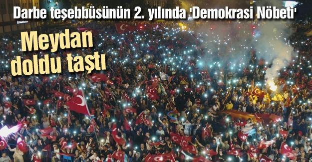 Darbe teşebbüsünün 2. yılında 'Demokrasi Nöbeti'