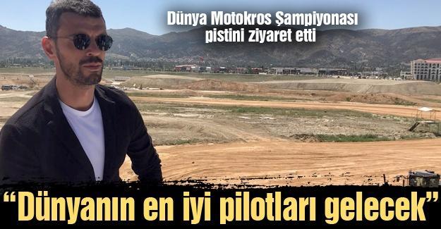 Sofuoğlu Dünya Motokros Şampiyonası pistini ziyaret etti