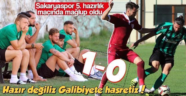 Galibiyete hasretiz! 1-0
