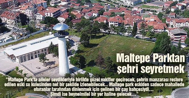 Maltepe Parktan şehri seyretmek