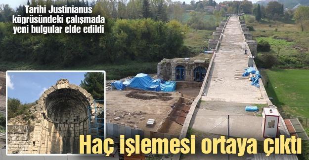 Tarihi Justinianus köprüsündeki çalışmada yeni bulgular elde edildi