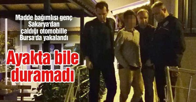 Sakarya'dan çaldığı otomobille Bursa'da yakalandı