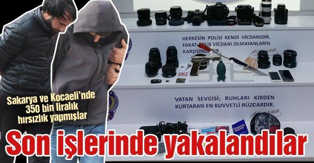 Sakarya ve Kocaeli'nde 350 bin liralık hırsızlık yapmışlar