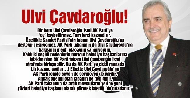 Ulvi Çavdaroğlu!…