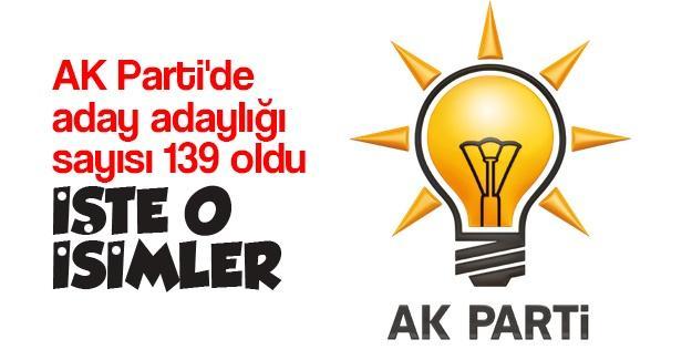 AK Parti'de aday adaylığı sayısı 139 oldu