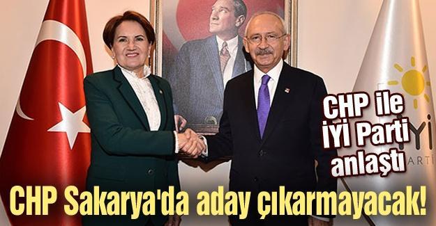 CHP Sakarya'da aday çıkarmayacak!
