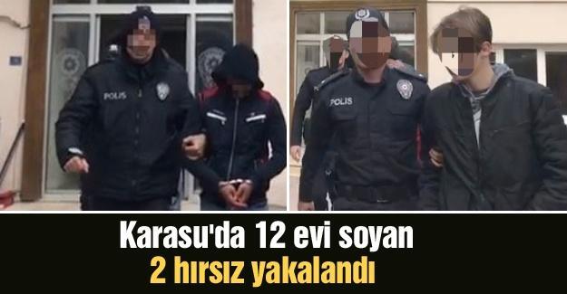 Karasu'da 12 evi soyan 2 hırsız yakalandı