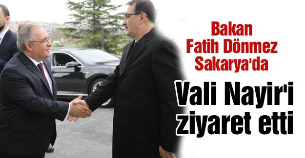 Bakan Fatih Dönmez Sakarya'da
