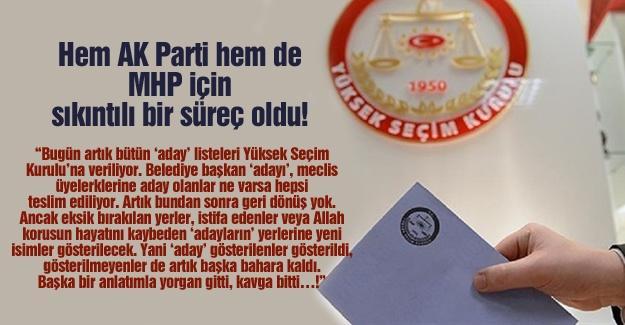Hem AK Parti hem de MHP için sıkıntılı bir süreç oldu!…