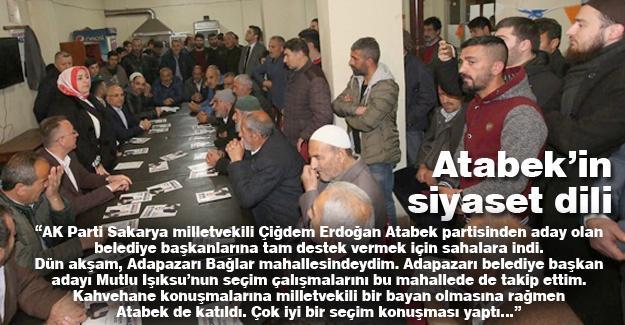 Atabek'in siyaset (vatandaşla diyaloğu) dili